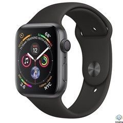 Apple Watch Series 4 GPS 40mm Gray Alum. w. Black Sport b. Gray Alum. (MU662)