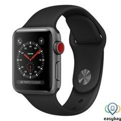 Apple Watch Series 3 GPS + Cellular 38mm Space Gray Aluminum w. Black Sport B. (MQJP2)