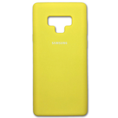 Чехол Silicone Cover for Samsung Note 9 Yellow