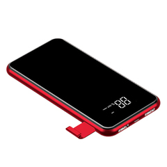 Power Bank BASEUS PREMIUM FULL screen bracket wireless 8000mAh (Беспроводной) Red