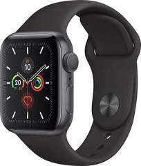 Apple Watch Series 5 GPS 40mm Space Gray Aluminum w. Black b.- Space Gray Aluminum (MWV82)