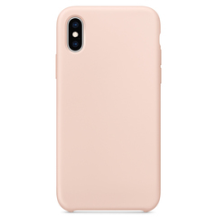 Чехол Epik Soft cover without Logo (AA) для Apple iPhone X/XS Розовый / Pink Sand